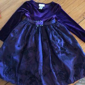 Youngland size 5 dress fancy party purple